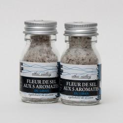 Fleur de sel aux 5 aromates  - Mini flacon - 30g