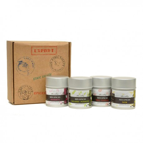 Coffret Mix Epices - 4 flacons